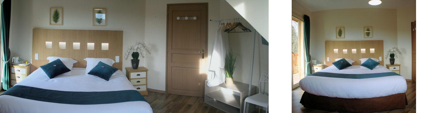 Chambre double avec Balcon & vue sur jardin